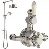 Hudson Reed Victorian Exposed Shower Valve, Rigid Riser Kit, Chrome