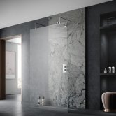 Aquashine Wetroom Screen 700mm Wide with Arms and Feet - 8mm Glass