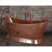 Hurlingham Copper Bateau Freestanding 1670mm x 720mm Bath - 0 Tap Hole