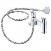 Ideal Standard Ceraflex Bath Shower Mixer Tap with Shower Kit - Chrome