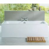 Ideal Standard Concept Double Ended Rectangular Bath 1700mm x 750mm 2 Tap Hole White