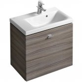 Ideal Standard Concept Space Wall Hung Vanity Unit with LH Basin 600mm Wide - Elm