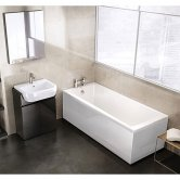 Ideal Standard Tempo Arc Single Ended Rectangular Bath 1700 x 700mm White 0 Tap Hole