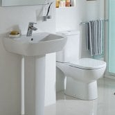 Ideal Standard Tempo Bathroom Cloakroom Suite Toilet 1 Tap Basin White