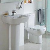 Ideal Standard Tempo Bathroom Cloakroom Suite Horizontal Pan 1 Tap Basin - White