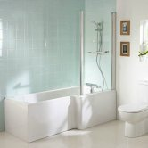 Ideal Standard Tempo Cube Idealform Plus Right Handed Shower Bath 1700mm X 700mm/850mm 0 Tap Hole