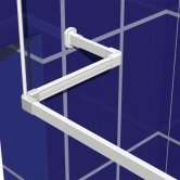 Impey Window Brdiging Kit with 1200mm x 1200mm Curtain