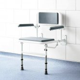 Impey Deluxe Fold-Down Padded Shower Seat with Back & Arms