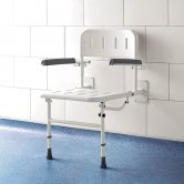 Impey Deluxe Fold-Down Shower Seat with Back & Arms