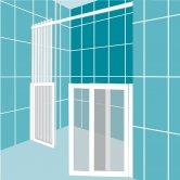 Impey Elevate Option 3 Alcove Half Height Door 1300mm Wide - Left Handed