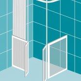 Impey Elevate Option D Corner Half Height Door 1200mm x 900mm - Left Handed