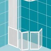 Impey Elevate Option E Corner Half Height Door 1200mm x 900mm - Left Handed