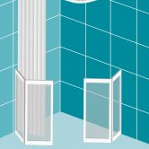 Impey Elevate Option H Corner Half Height Door 1300mm x 750mm - Left Handed