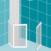 Impey Elevate Option J Corner Half Height Door 1000mm x 1000mm - Left Handed