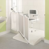 Impey Mendip Rectangular Shower Tray with Waste 1850mm x 710mm with Cut to Length End Caps - White