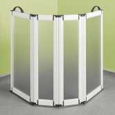 Impey Portable Folding Shower Screen 750mm High x 2x400mm x 2x225mm