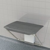 Impey Slimfold Shower Bench, Black Granite