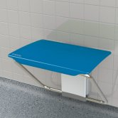 Impey Slimfold Shower Bench, Sky Blue