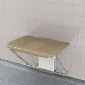 Impey Slimfold Shower Bench, Sandstone