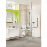 Impey Supreme Glass Shower Panel, 700mm Wide, Plain Glass