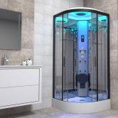 Insignia Premium Quadrant Non Steam Shower Cabin 1000mm x 1000mm - Black Frame
