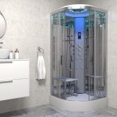 Insignia Platinum Quadrant Non Steam Shower Cabin 800mm x 800mm - Chrome Frame
