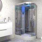 Insignia Platinum Offset Quadrant Non Steam Shower Cabin 1100mm x 700mm LH - Chrome Frame