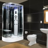Insignia Platinum Offset Quadrant Non Steam Shower Cabin 1100mm x 700mm RH - Chrome Frame