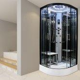 Insignia Platinum Quadrant Non Steam Shower Cabin 800mm x 800mm - Black Frame