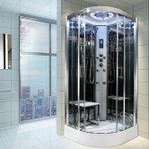 Insignia Platinum Quadrant Non Steam Shower Cabin 900mm x 900mm - Chrome Frame
