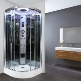 Insignia Premium Quadrant Non Steam Shower Cabin 1000mm x 1000mm - Chrome Frame
