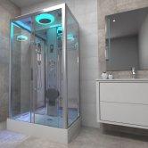 Insignia Premium Rectangular Non Steam Shower Cabin 1050mm x 850mm - Chrome Frame