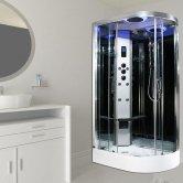 Insignia Premium Offset Quadrant Non Steam Shower Cabin 1100mm x 700mm LH - Chrome Frame