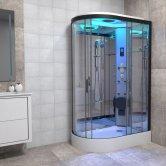 Insignia Premium Offset Quadrant Non Steam Shower Cabin 1100mm x 700mm RH - Black Frame
