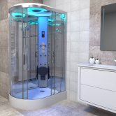 Insignia Premium Offset Quadrant Non Steam Shower Cabin 1100mm x 700mm RH - Chrome Frame