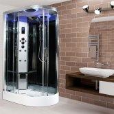 Insignia Premium Offset Quadrant Non Steam Shower Cabin 1200mm x 800mm LH - Chrome Frame
