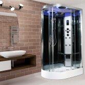 Insignia Premium Offset Quadrant Non Steam Shower Cabin 1200mm x 800mm RH - Chrome Frame