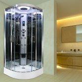 Insignia Premium Quadrant Non Steam Shower Cabin 900mm x 900mm - Chrome Frame