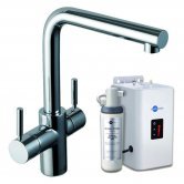 InSinkErator 3N1 L Shape Kitchen Sink Mixer Tap with Neo Tank and Filter - Chrome
