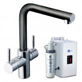 InSinkErator 3N1 L Shape Kitchen Sink Mixer Tap with Neo Tank and Filter - Anthracite