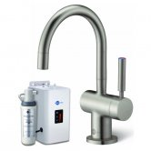 InSinkErator HC3300 Kitchen Sink Mixer Tap with Neo Tank and Hot/Cold Water Filter - Brushed Steel