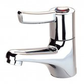 Inta Lever Operated Basin Mixer Tap with Copper Tails, Chrome