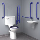 Inta Standard Doc M Pack with 6L Close Coupled Disabled Toilet - Blue
