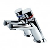 Inta Non Concussive Self Closing Basin Taps, Pair, Chrome