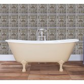 Hurlingham Berwick Cast Iron Roll Top Slipper Bath including White Feet - 0 Tap Hole