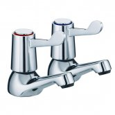 JTP Astra Lever Bath Taps, Pair, Chrome