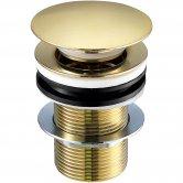 JTP Vos Basin Waste Brushed Brass - Unslotted (For Basins with No Overflow)