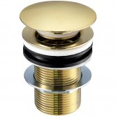 JTP Vos Basin Waste Brushed Brass - Unslotted (For Basins with No Overflow)