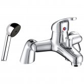 JTP XY Pillar Mounted Bath Shower Mixer Tap with Kit - Chrome