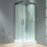 Kinedo Horizon Corner Slider Shower Cubicle Enclosure 900mm x 900mm Self-Contained